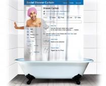 Social Shower Curtain