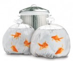 Happy Goldfish Garbage Sacks