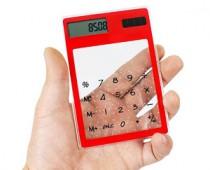 Transparent Solar Powered Calculator