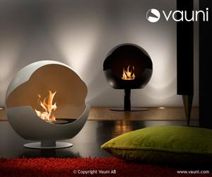 Vauni Globe Designer Fireplace