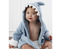 Baby Aspen Terry Shark Robe