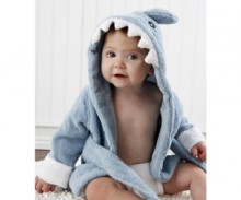 Baby Aspen Terry Shark Robe