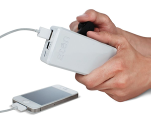 Eton BoostTurbine 2000 - Rechargeable 2000mAh USB Battery Pack with Hand Turbine Power