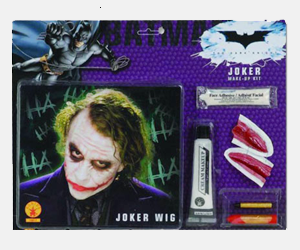 Joker Wig Make Up Kit