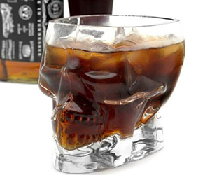 Pirate Skull Glass