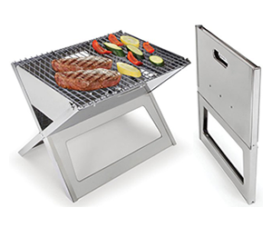 stainless steel notebook charcoal grill. Black Bedroom Furniture Sets. Home Design Ideas