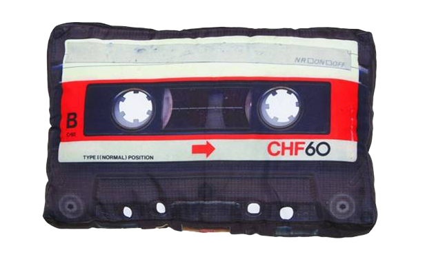 Buy DCI Retro Cassette Tape Pillow on Amazon