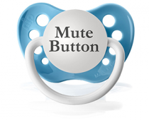 Buy Mute Button Pacifier on Amazon
