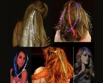 LED Fiber Optic Light-Up Hair Barrette