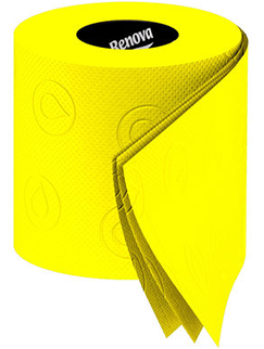 Luxury Yellow Toilet Paper