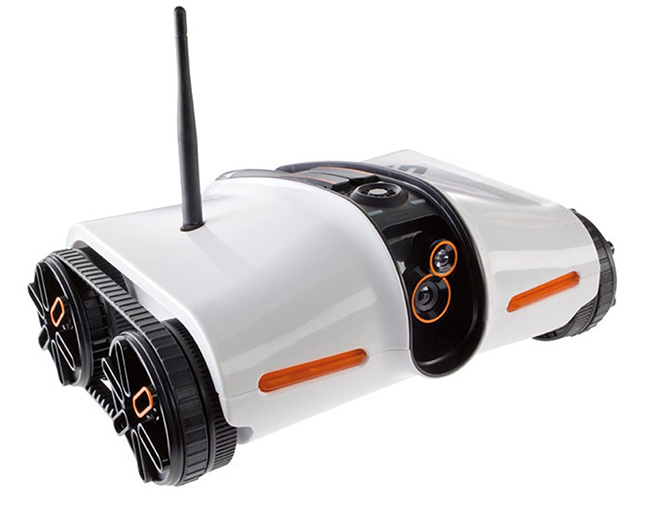 Brookstone App-Controlled Spy Tank on Amazon