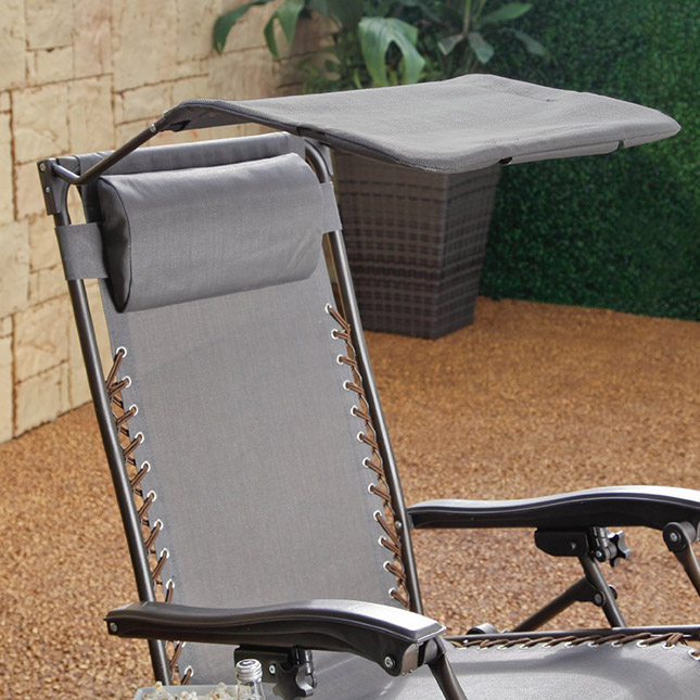 Coral Coast Zero Gravity Recliner With Sunshade And Drink Tray