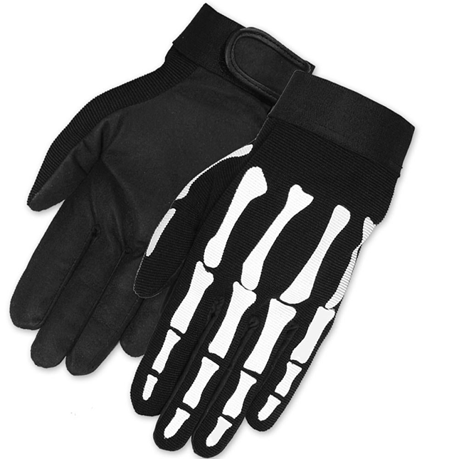 Skeleton Hand Motorcycle Gloves Mechanics Work