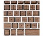 Wooden Keys for MacBook Pro