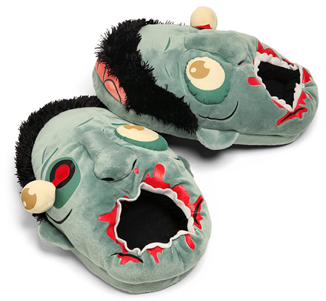 Zombie Plush Slippers on Amazon