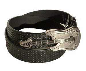Unisex Belt With Guitar Shaped Buckle