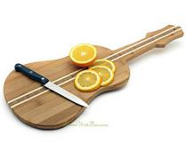 Guitar Shaped Bamboo Serving Board