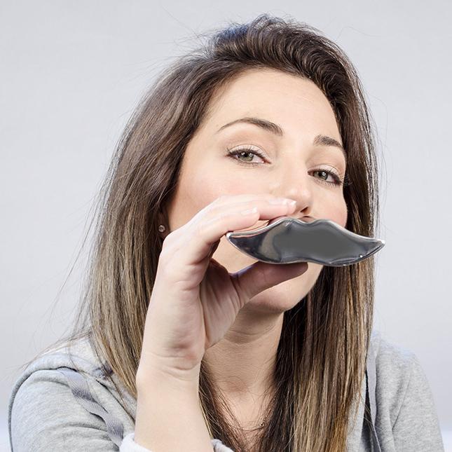 Mustache Drinking Flask