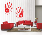 Bloody Hands Wall Decal