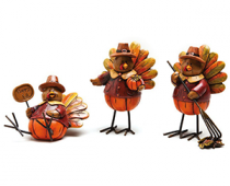 Adorable Turkey Fall Table Decor
