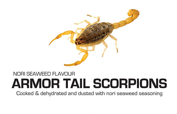 Armor Tail Scorpions with Nori Seaweed flavor