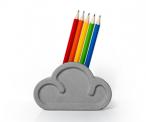 Eraser Cloud with Pencils