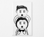 Naughty Couple Cover Decal
