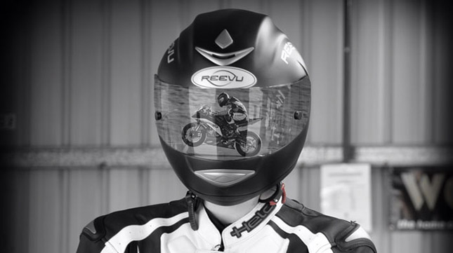 Reevu The Rear View Hud Protection Motorcycle Helmet