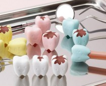 Teeth-shaped Pencil Top Erasers
