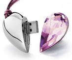 8GB Crystal Heart-Shaped USB Flash Drive