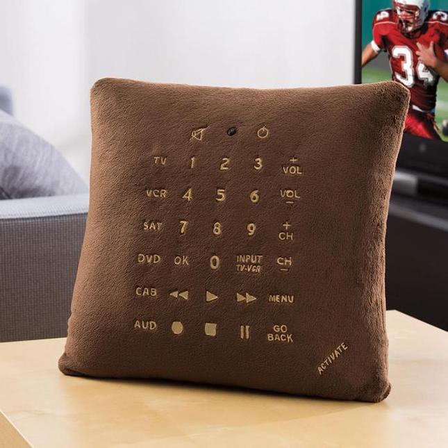 Brookstone Universal TV Remote Control Pillow