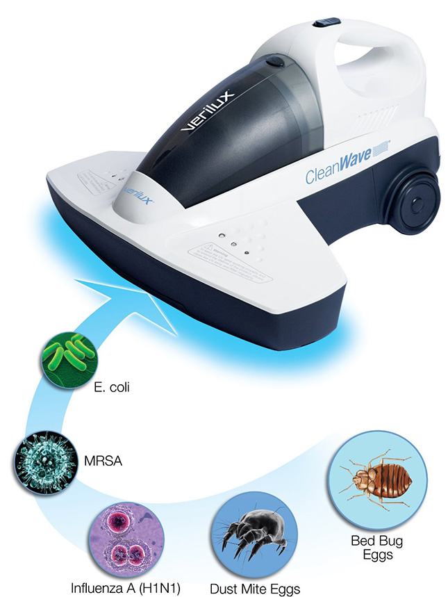Verilux CleanWave Portable Sanitizing Vacuum