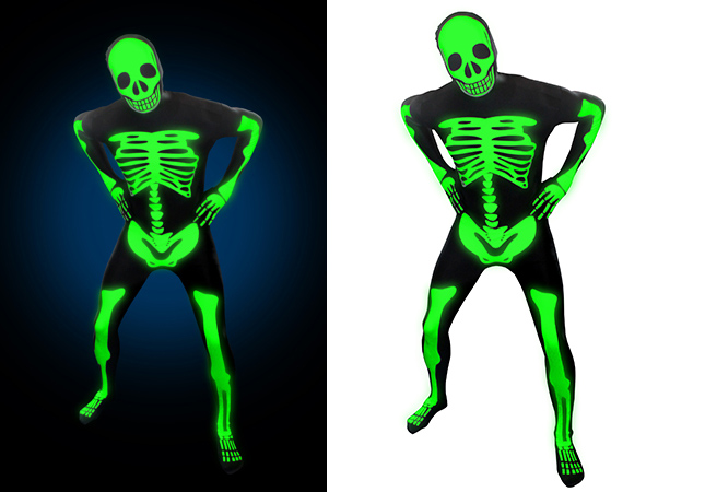 Glowing Skeleton Morphsuit