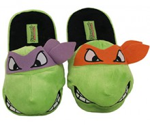 TMNT Michelangelo and Donatello Plush Slippers