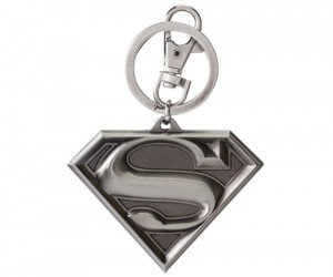 Superman Shield Pewter Key Chain