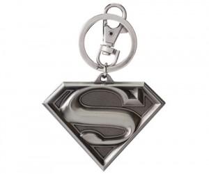 Superman Shield Pewter Key Chain
