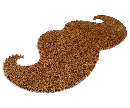 The Mustache Door Mat