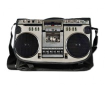 Retro Boombox Messenger Bag
