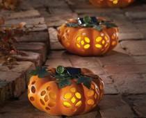 Garden Solar Lighted Pumpkins