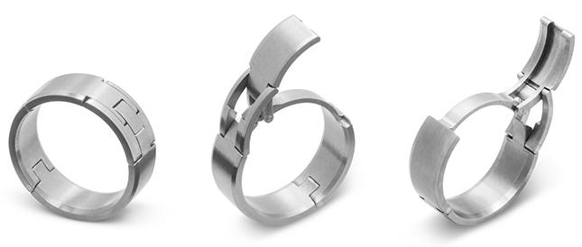 TG-4-Titanium Openable Men's Ring