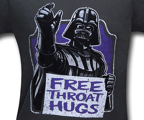 star wars free throat hugs funny darth vader tshirt