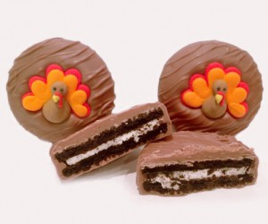 Turkey Motif Chocolate Cookies