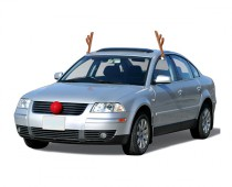 Geeky Christmas reindeer car costume