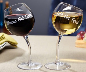 Let's Get Tipsy Wine Glasses