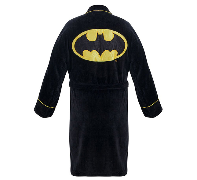Classic Batman Black Bathrobe