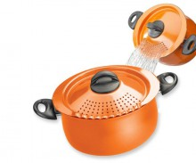Pot With Drain Lid