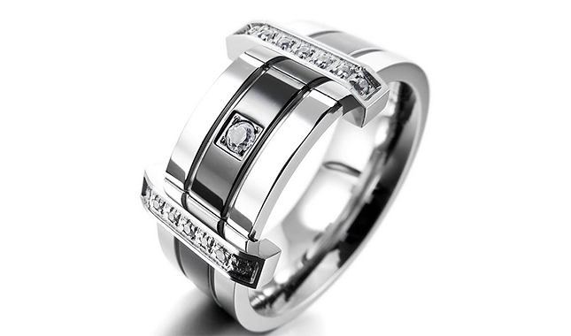 Men's Stainless Steel Rings Band