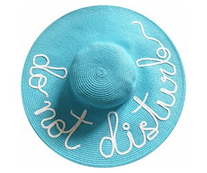 "The ""Do Not Disturb"" Sun Hat"