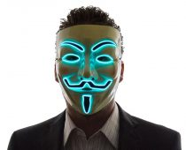 Light Up V For Vendetta Mask