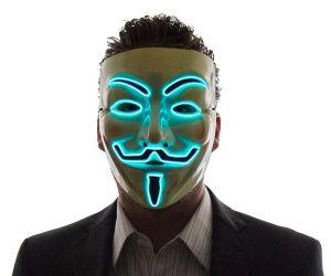 Light Up V For Vendetta Mask